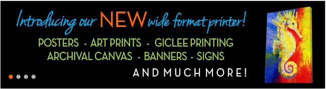 Wide Format Printing - Posters, Art Prints, Giglee Printing, Archival Canvas, Banners, Signs - Panama City, Florida