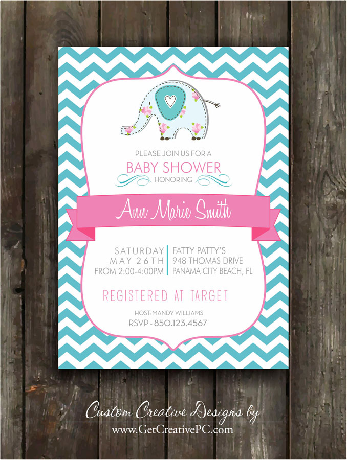 Custom Spring Baby Shower Invitations - Get Creative Blog - Creative ...