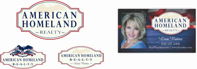 Creative Graphic Design - Logo - American Homeland Realty