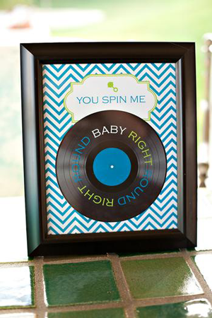 Creative Printing of Bay County - Panama City, Florida - Album Baby Shower Theme - Record