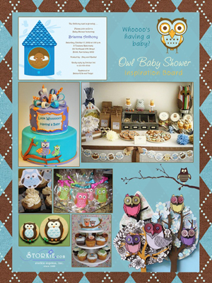 Creative Printing of Bay County - Panama City, Florida - Owl Baby Shower Theme