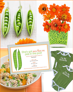 Creative Printing of Bay County - Panama City, Florida - Two Peas in a Pod Baby Shower Theme