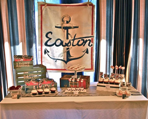 Creative Printing of Bay County - Panama City, Florida - Vintage Nautical Baby Shower Theme