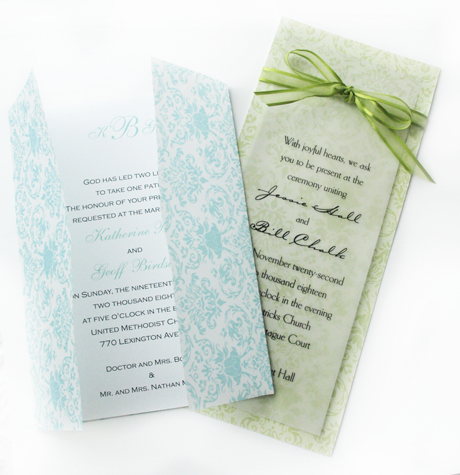 Creative Printing of Bay County - Panama City, Florida - Wedding Invitation - Two-Color - Folding Invitation