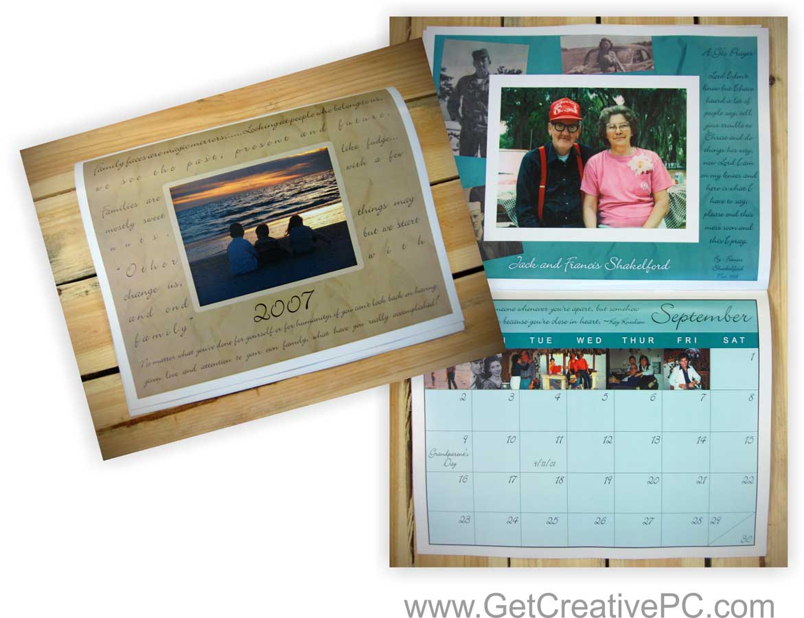 Photography Calendar Printing : Canvases calendars and christmas custom printed holiday