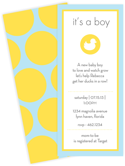 Duck - Baby Shower Invitation