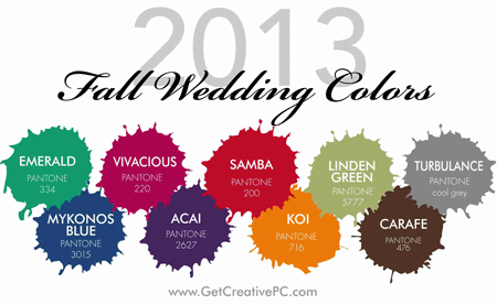 Fall Wedding Colors - Pantone - Creative Printing of Bay County
