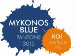 Fall Wedding Colors - Pantone - Mykonos Blue and Koi - Creative Printing of Bay County