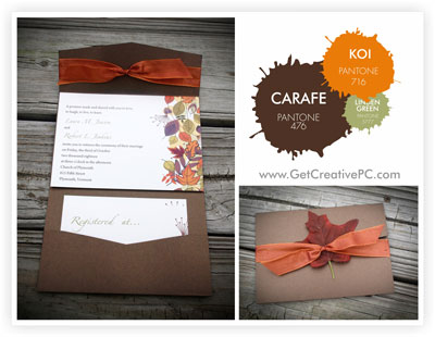 Fall Wedding Invitations - Carafe - Koi - Creative Printing of Bay County, FL