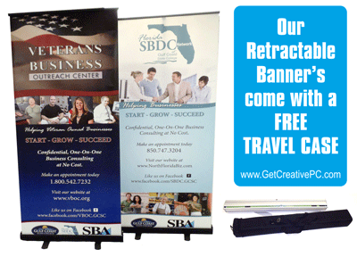 Retractable Banners - Creative Printing of Bay County - Panama City, FL