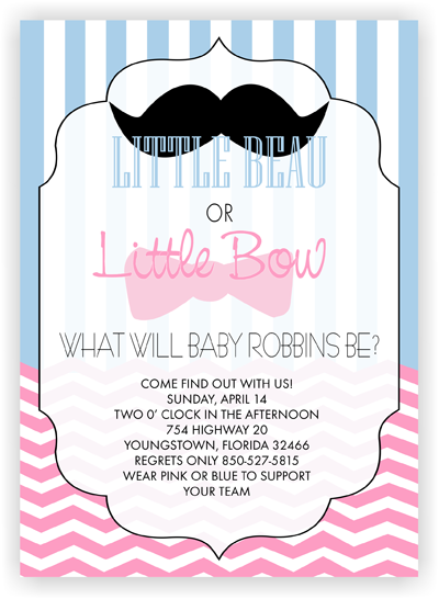 What Will Baby Be? - Gender Reveal - Baby Shower Invitation