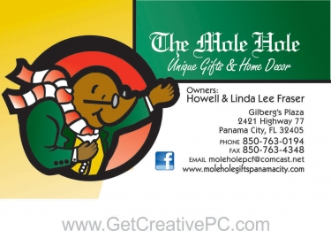 Business Cards - The Mole Hole - Creative Printing - Panama City, Florida