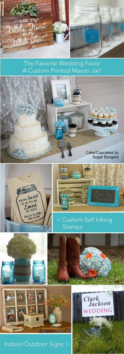 Country Wedding - Wedding Favors - Custom Self Inking Stamps - Indoor Outdoor Signs - Creative Printing - Panama City, Florida