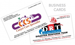Carpet Care Specialist / Disaster Response Team - Business Cards - Creative Printing of Bay County - Panama City, Florida