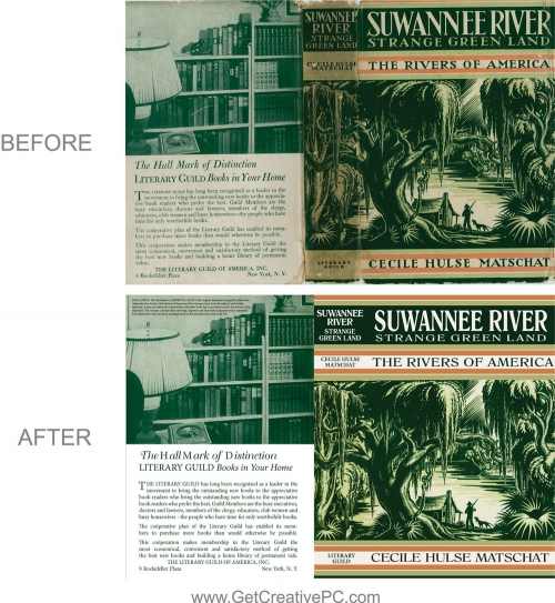Photo Restoration - Booklet - Suwannee River - Creative Printing - Panama City, FL