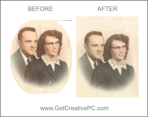Photo Restoration - Couple - Creative Printing - Panama City, FL