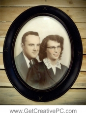 Photo Restoration - Couple - Printed and Framed - Creative Printing - Panama City, FL