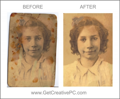 Photo Restoration - Young Lady - Creative Printing - Panama City, FL