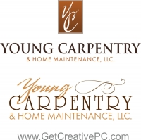 Logo Design - Small Business Spotlight - Young Carpentry - Creative Printing of Bay County