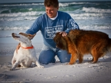 Bad Byron And His Dogs On The Beach - Butt Rub Barbeque Seasoning - Shelly Swanger Photography