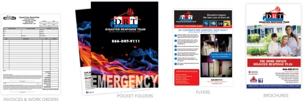 Carpet Care Specialist / Disaster Response Team -  Invoices - Pocket Folders - Flyers - Brochures
