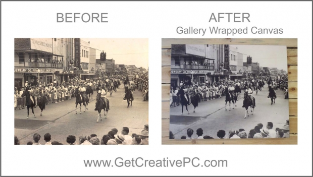 Photo Restoration - Downtown Harrison Avenue - Creative Printing - Panama City, FL - Canvas