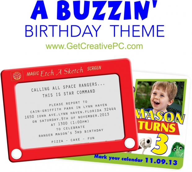 Toy Story Themed Birthday Invitations - Custom Invitations - Creative Printing - Panama City, Florida