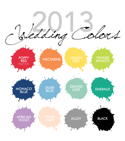 Creative Printing of Bay County - Panama City, Florida - 2013 Wedding Colors