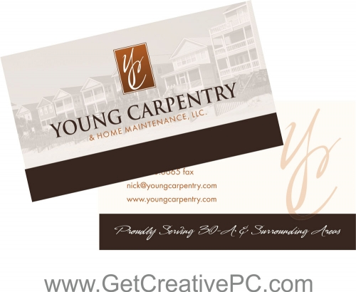 Business Card Design - Small Business Spotlight - Young Carpentry - Creative Printing of Bay County